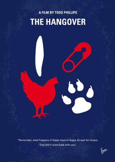 The Hangover (2009) ~ Minimal Movie Poster by Chungkong #amusementphile