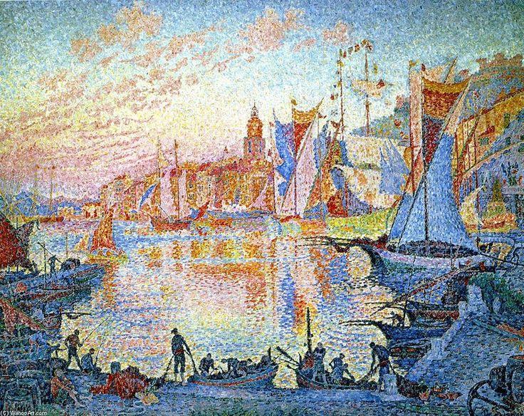 Saint-Tropez, huile sur toile de Paul Signac (1863-1935, France)