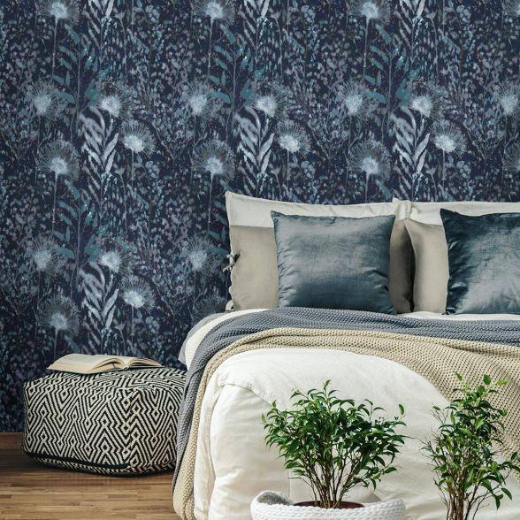 Roommates Dandelion Peel And Stick Wallpaper Blue Dandelion Wallpaper Peel And Stick Wallpaper Dorm Furniture