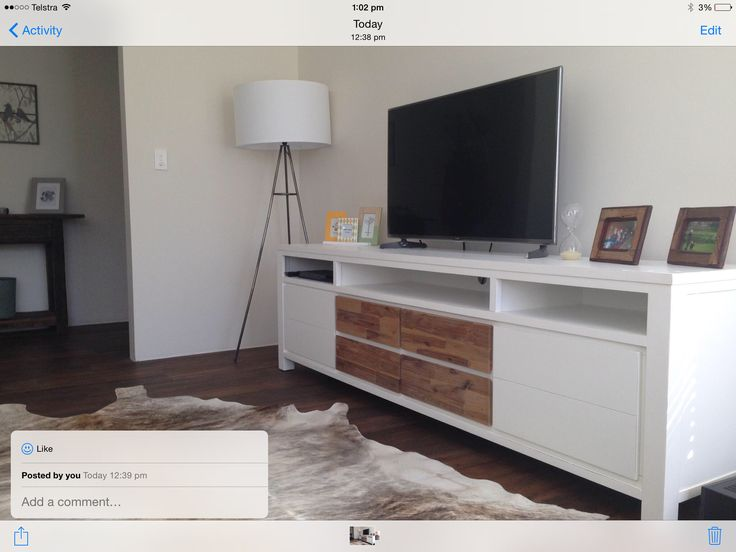 Hamptons Furniture Entertainment Unit. White Painted With
