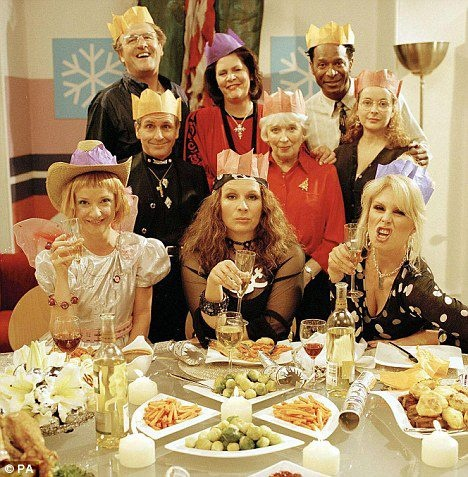 The cast of Absolutely Fabulous (created by:Jennifer Saunders and Dawn French)