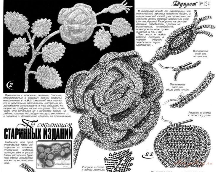 Gallery.ru / Фото #5 - Розы, связанные крючком - Alleta