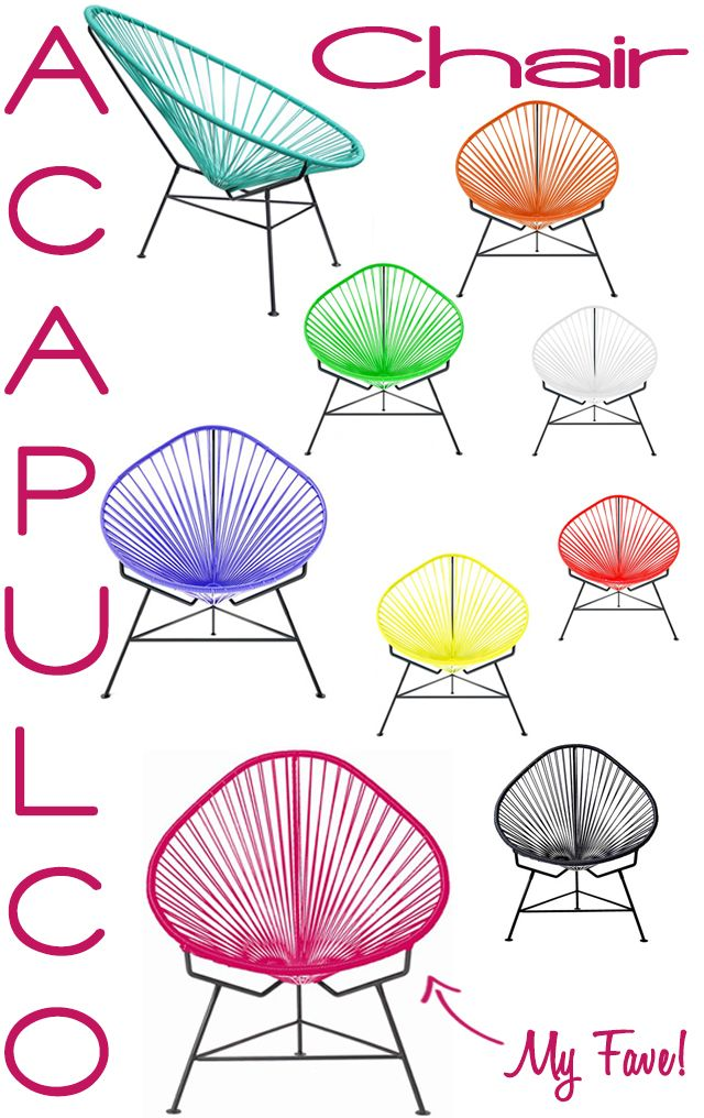 Preciously Me for Young Sophisticates : Acapulco Chair