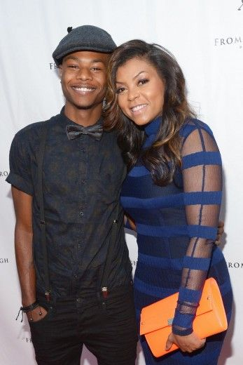 Taraji P. Henson with son Marcel Henson. She is gorgeous!