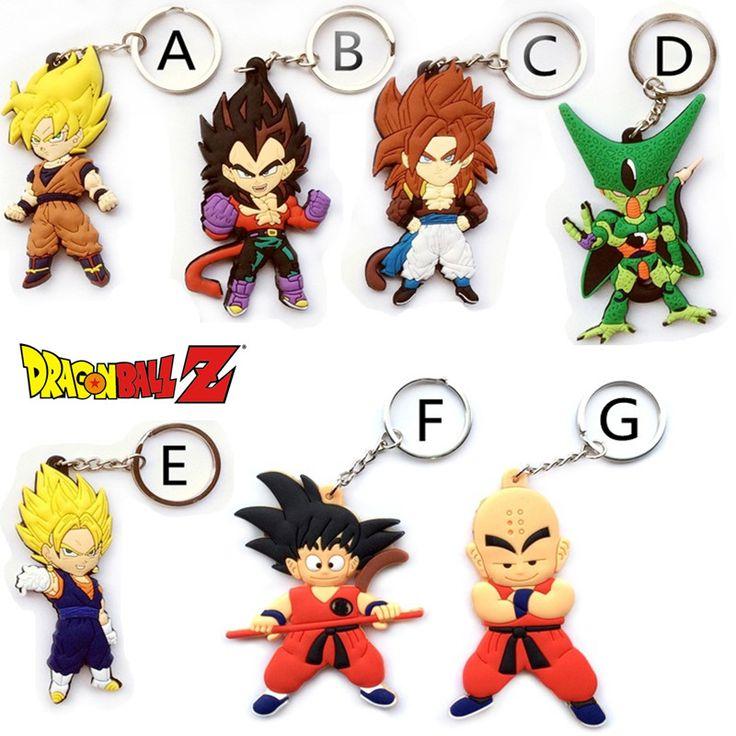 Dragon Ball Keychain Son Goku Super Saiyan Silicone PVC Keychain //Price: $9.16 & FREE Shipping //