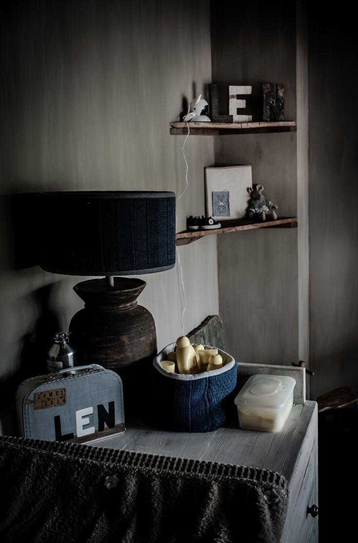 Landelijke babykamer met een beetje hoffz en leuke decoratie van baby s only en knit factory - Decoratie van een kamer ...