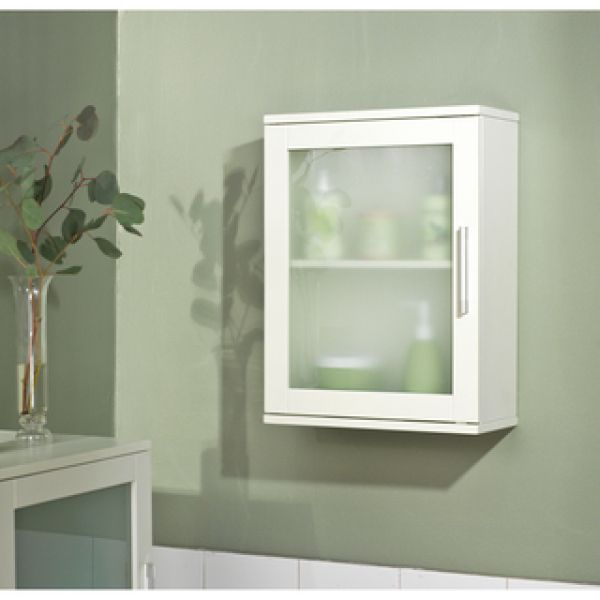 Simple Living Antique White Frosted Pane Wall Cabinet Ping Great Deals On Bathroom Cabinets Top Of Vanity Desk