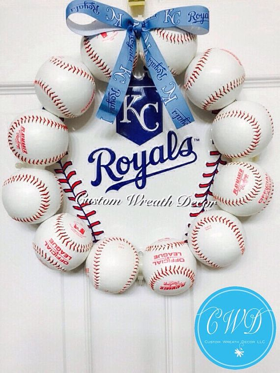 13 Kansas City Royals Baseball Wreath by CustomWreathDecor on Etsy...just needs to be NY