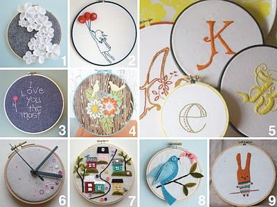 STELLA + HODGE: embroidery hoop art (and lots of other ideas)