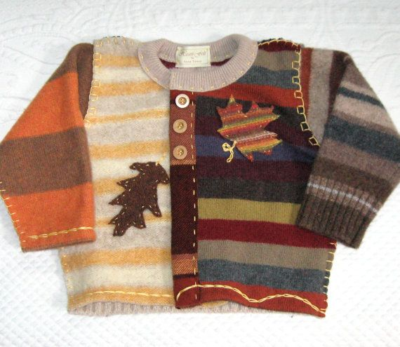 EMMET Felted Toddler Sweater made from recycled by heartfeltbaby, $75.00