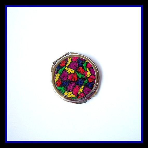 Round Compact Mirror by VictoriasPolymerArt on Etsy, £6.75