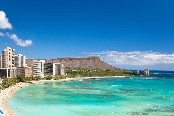 Waikiki strand i Oahu, Hawaii