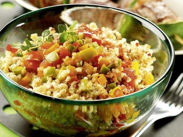 Quinoa gourmand sauce basquaiseVous adorez le poulet basquaise ? Essayez cette version végétarienne du plat typique du sud ouest.Voir la recette du Quinoa gourmand sauce basquaise