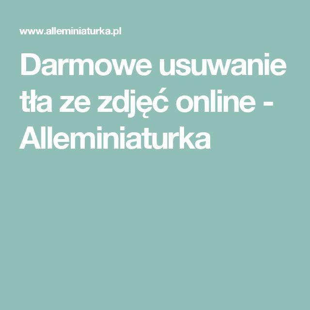 Darmowe usuwanie tła ze zdjęć online - Alleminiaturka