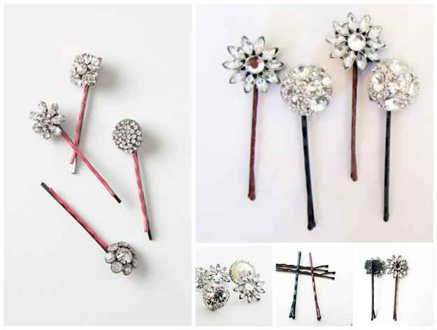Jeweled Bobbie Pins   50 DIY Anthropologie Hacks For Every Facet Of Your Life