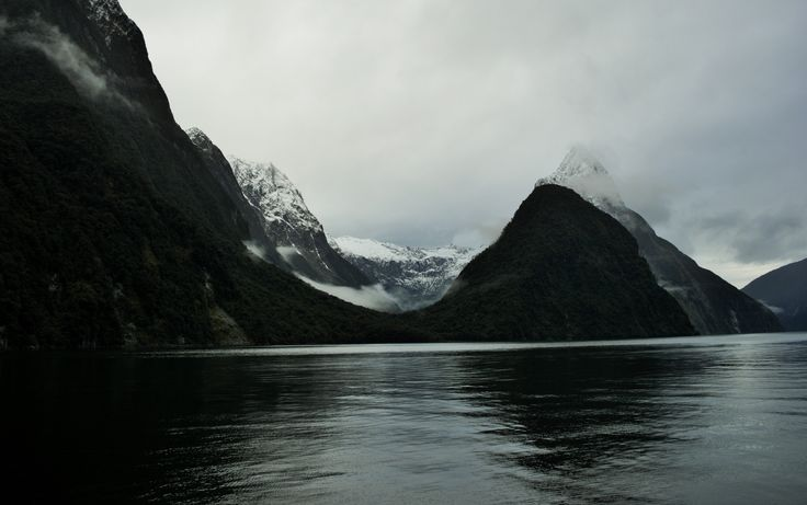 Mountain views from cruise ship, Milford Sound