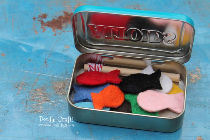 pocket sized magnetic fishing set | doodle craft - would be great little addition for quiet bag at church