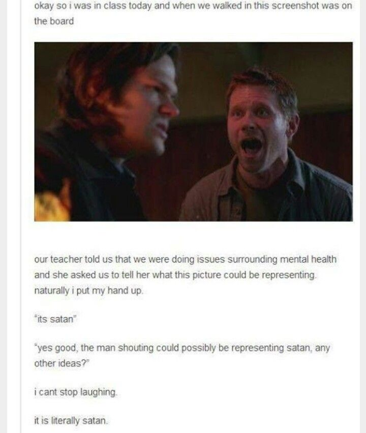 Only Supernatural fans would understand