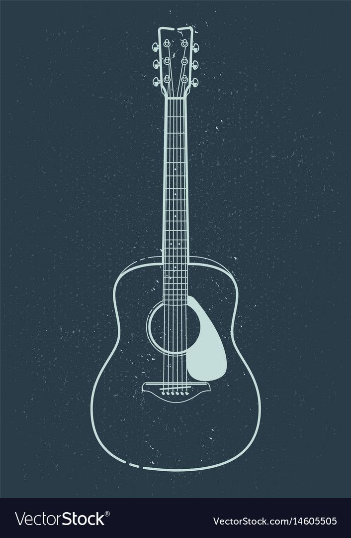 Acoustic Guitar Vector Outline Style Guitar Art Download A Free Preview Or High Quality Adobe Illustrator Ai Eps Pdf And Hi Guitar Vector Guitar Guitar Art