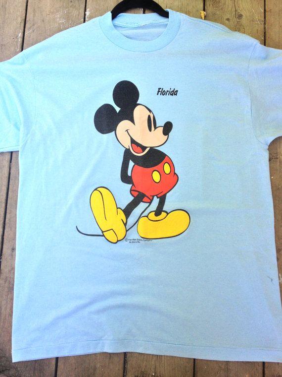 Walt Disney Mickey Mouse 1980's 80's Florida by RetroFreshTees, $21.35