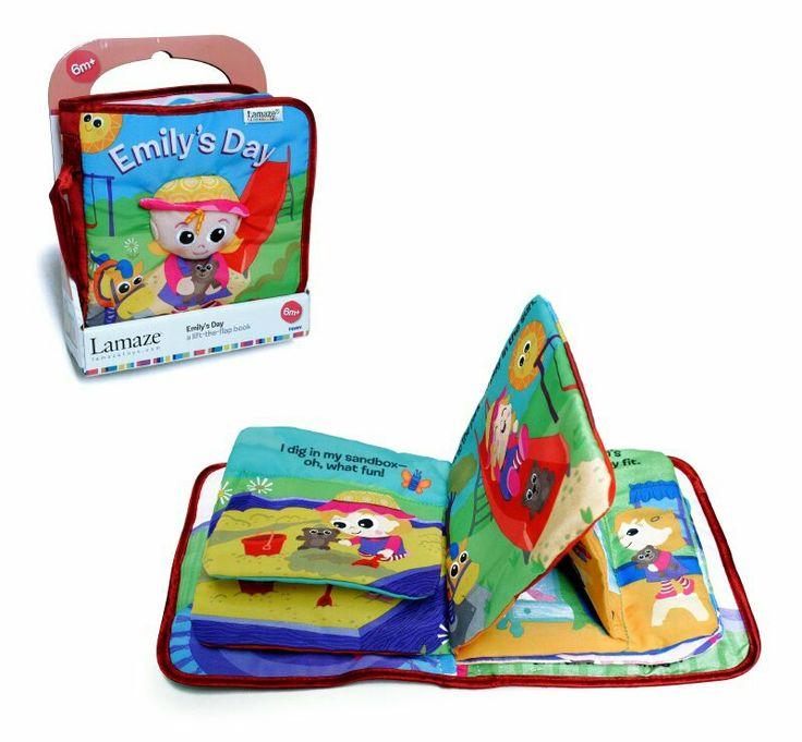 Libro de tela Emily **Lamaze** didáctico,  entretenido,  tu hijo podrá descubrir texturas, sonidos, y colores.