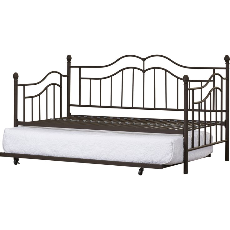 "$165 Andover Mills' Byron metal Daybed with Trundle (mattress not included) 42.5""H x 77.5""W x 41.5""D, overall product weight 63 lb, free shipping by 3/17"