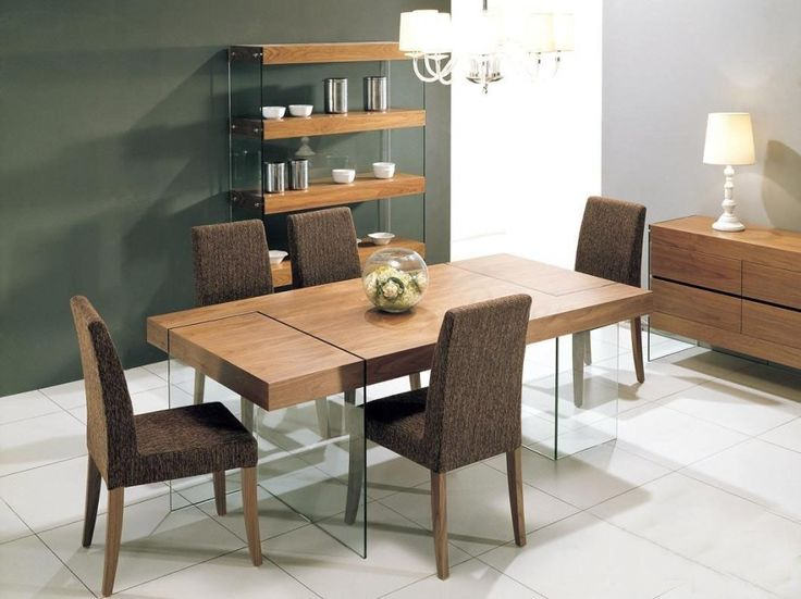 Wooden Dining Table Designs With Glass Top Amazing Wooden Dining