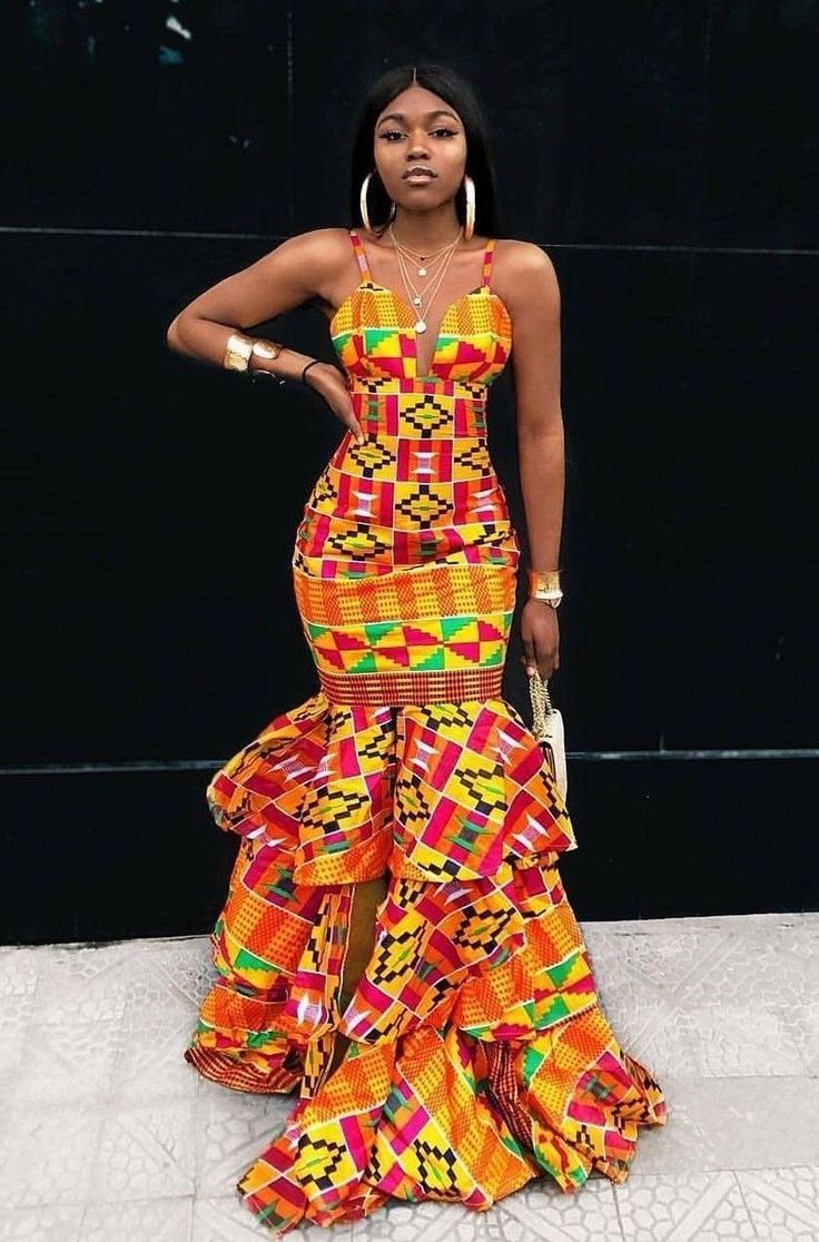 The Total Value Of These Toghu Print Can Finance A Village Long African Dresses African Prom Dresses African Fashion Designers