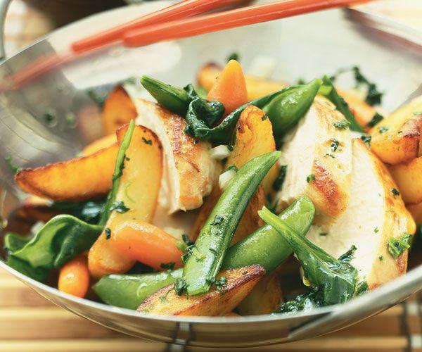 #Wok au #poulet et petits #légumes