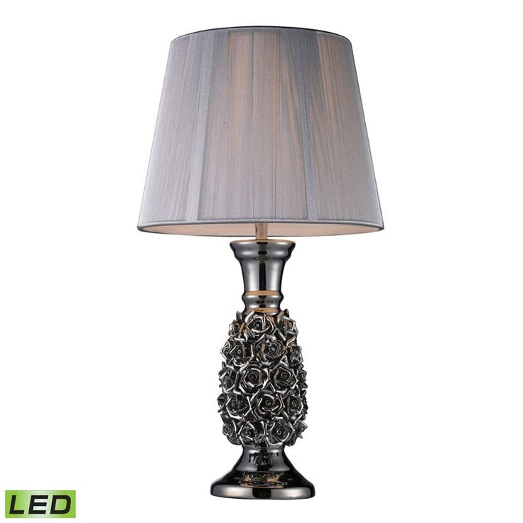 Dimond Lighting D1447-LED Roseto LED Table Lamp In Alisa Silver With Silver String Shade Alisa Silver – Table Lamps – Residential Lighting - GreyDock.com
