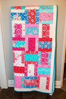 This pretty quilt reminds my of bandana scarves so that is what I call it!