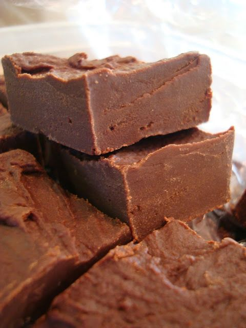 Chocolate Peanut Butter Fudge; it could use more PB but still pretty fabulous :) although not as good as the fudge we had to make with fluff!