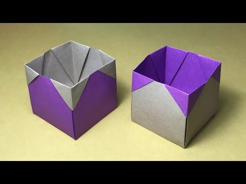 Origami Box Tutorial / easy for kids - YouTube