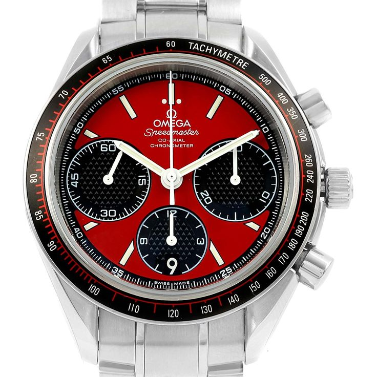 16638 Omega Speedmaster Racing Red Chronograph Watch 326.30.40.50.11.001 SwissWatchExpo
