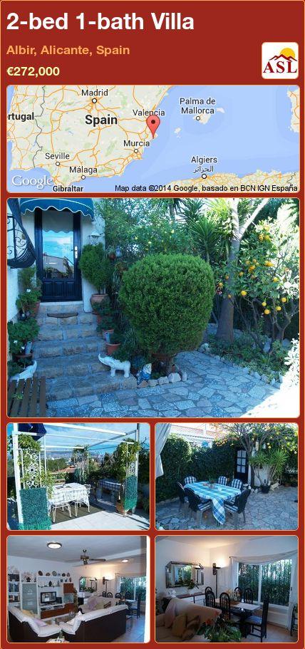 2-bed 1-bath Villa in Albir, Alicante, Spain ►€272,000 #PropertyForSaleInSpain