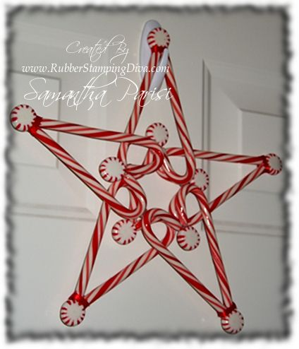 Christmas Crafts for Kids ~ love this candy cane star, but don't