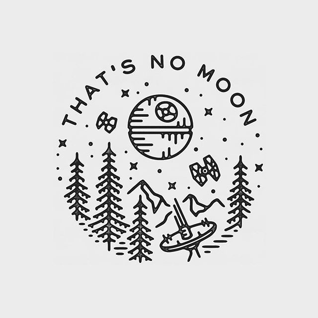 That's no moon. Beautiful Star Wars graphic design by Liam Ashurst – *Art*