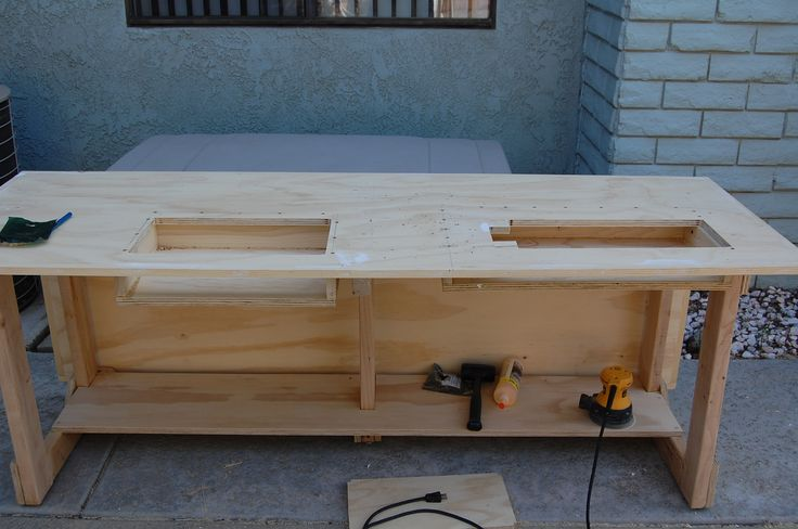 counter-sinking the sewing machine into a cabinet