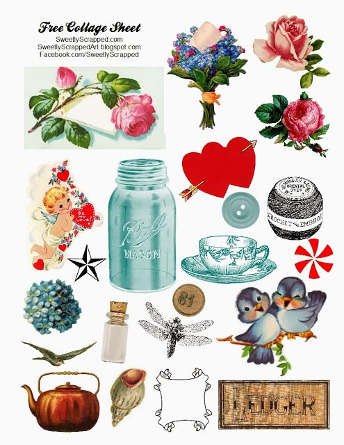 Free Printable Digital Collage Sheet