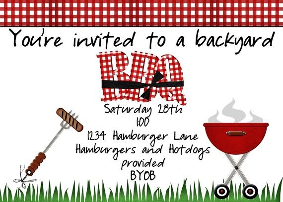 Backyard BBQ Invitation by jaebirddesign on Etsy, $10.50