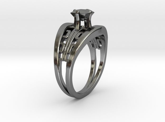 Korean Twin Ring + Square Gem by Fluid_Designer