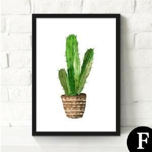 Sans cadre Cactus Image Peinture Par Usine D'impression Paysage Peinture À L'huile Sur Papier Décoration Pour Salon 23 cm x 30 cm