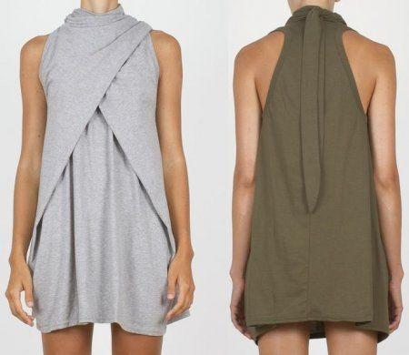 Как сшить платье - тунику из трикотажа: выкройка для кройки и шитья
