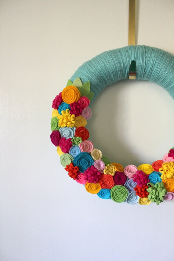 OH EM GEE, LOVE!! Bright Tropical Wreath Summer Wreath Aqua by TheBakersDaughter