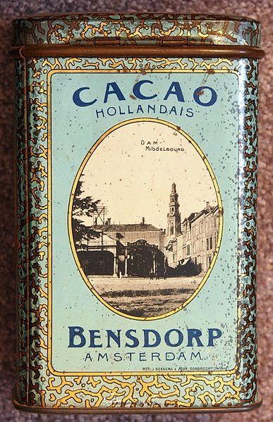 Cacao Bensdorp blikje, Middelburg.