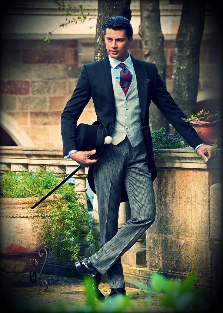traje de alpaca | traje de novio 918 chaque negro ongala gentleman formal wedding suit ...