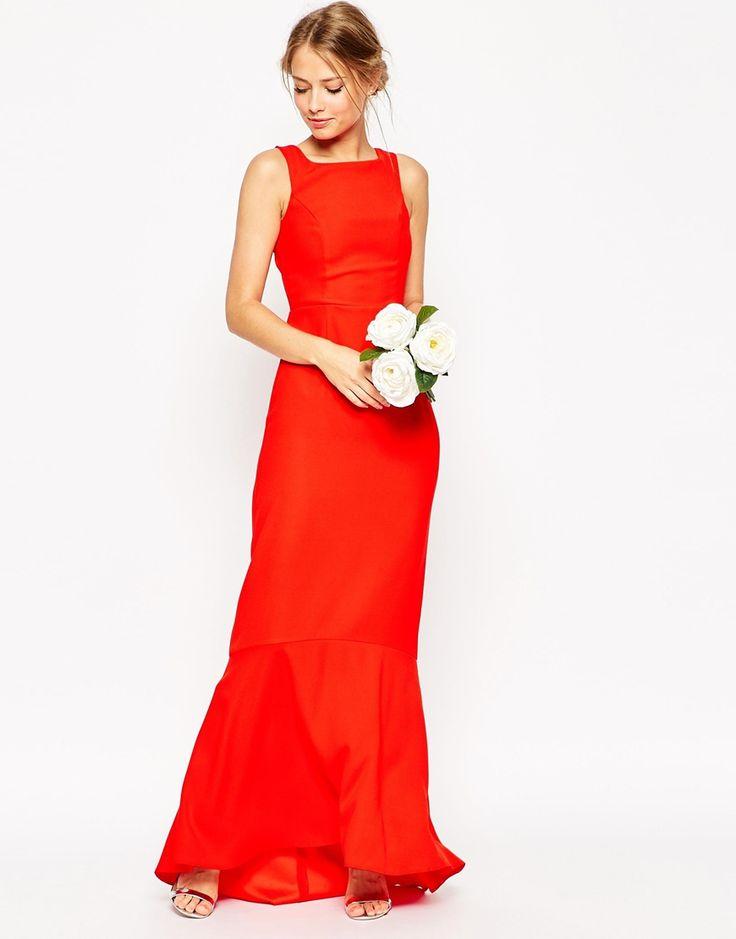 Image 1 - ASOS WEDDING - Maxi robe avec ourlet en pointe dans le dos