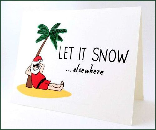 Tropical Santa with Christmas Tree Card: http://beachblissliving.com/palm-tree-christmas-decor/