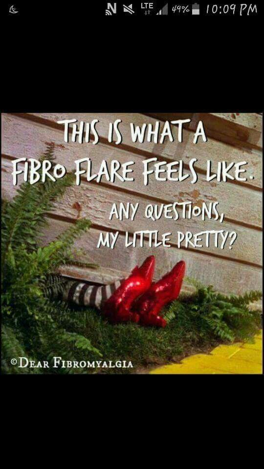 What a fibro flare feels like