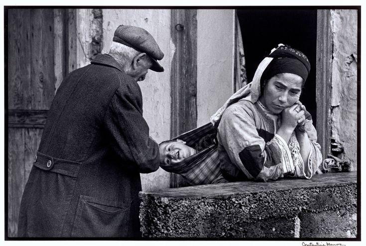"GREECE. Karpathos. 1964. Grandfather and child. ""A Greek Portfolio"""